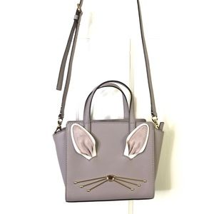 KATE SPADE Bunny Tail Hop To It Mini Hayden Bag